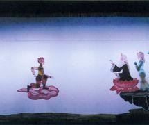 <em>Monkey <em>Ki</em>ng Learns Kongfu</em> (美猴王学艺, 2005), created by Zhou Quanlai, performed by Haerbin Ertong Yishu Juyuan Muou Piyingtuan (Harbin, Heilongjiang Province, People's Republic of China), direction: Lu Guangyong, Xue Zhaoping, design/construction: Guan Yongjiu, Lou Xiuhong, Wang Baihui, puppeteers: Wang Pei, Kang Ranran, Lian Xingli, Yang Qingmei. Shadow theatre. Photo: Zhou Fuquan