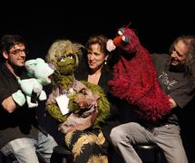 Muppet puppeteers (from left to right): Tim Lagasse, Pam Arciero and Martin P. Robinson at the National Puppetry Conference at the Eugene O'Neill Theater Center. Photo: Richard Termine
