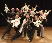 Hua Hua Zhang leads a puppet class at the National Puppetry Conference at the Eugene O'Neill Theater Center. Photo: Richard Termine