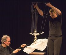 Marionette workshop at the National Puppetry Conference at the Eugene O'Neill Theater Center. Photo: Richard Termine