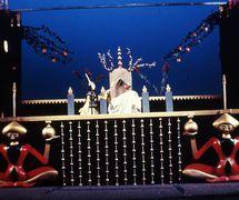 <em>Volshebnaya lampa Aladdina</em> (Aladdin's Magic Lamp, 1940), play by Nina Gernet, production of Gosudarstvenny tsentralny teatr kukol (Moscow), direction: Sergei Obraztsov, design: Boris Tuzlukov. Photo courtesy of Collection: Gosudarstvenny akademichesky tsentralny teatr kukol imeni S.V. Obraztsova, Puppetry Museum (Moscow, Russia)