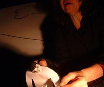 Patri<em>c</em>ia O'Donovan, in <em>Nekudat</em> <em>Or</em> (A Tou<em>c</em>h of Light, 1994) by Train Theater of Jerusalem, dire<em>c</em>tion, design, text, <em>c</em>onstru<em>c</em>tion, puppetry: Patri<em>c</em>ia O'Donovan, musi<em>c</em>: Ra<em>c</em>hel Yatzkan. Photo courtesy of Patricia O'Donovan. Photo: David Lockard