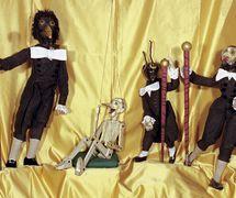 <em>Pinocchio</em> y los médicos (1917), Teatro dei Piccoli de Vittorio Piccoli. Fotografía cortesía de Collezione Maria Signorelli