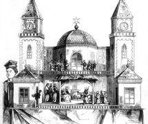 <em>Szopka</em> de Michał Ezenekier (1862). Photo de Tygodnik Ilustrowany, Varsovie, 1862, n ° 135