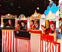Line up of Professors from the <em>Punch and Judy</em> College of Professors (May 2012). Photo courtesy of Glyn Edwards