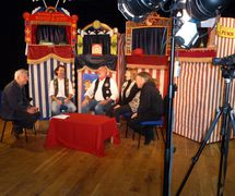 College Professors discuss their art with Dr Martin Reeve (May 2012). Photo courtesy of Glyn Edwards