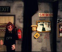 Debbie, en <em>The Crystal Slipper</em> (1997), por The Puppeteer's Company (Brighton, Inglaterra), puesta en escena, concepción y fabricación: Steve Lee, Peter Franklin, actores: Steve Lee, Peter Franklin. Títere de varillas, altura: 60 cm. Foto: Steve Lee