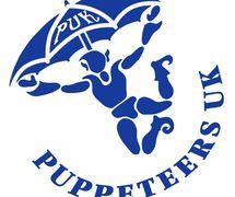 Logo (in blue) of Puppeteers UK (PUK). Photo: Peter MacDonald