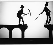 The Broken Bridge, shadow theatre by Richard Bradshaw of Living Dodo Puppets (R. Bradshaw and M. Williams, Bowral, NSW, Australia). Photo: Margaret Williams