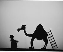 The Camel, shadow theatre by Richard Bradshaw of Living Dodo Puppets (R. Bradshaw and M. Williams, Bowral, NSW, Australia). Photo: Margaret Williams