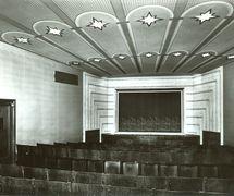 Interior of Umělecká scéna Říše loutek (Prague, Czechoslovakia) in 1929. Photo courtesy of Archive of Umělecká scéna Říše loutek