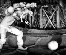 <em>Til Ulenshpigel</em> (Thyl Ulenspiegel, 1983), after Charles de Coster, by Teatr kukol «Skazka» (Barnaul, Russia), direction: Evgeni Gimelfarb, design: Sergei Stolyarov. Photo courtesy of Archive: Rossiyskiy tsentr UNIMA (Russian UNIMA Centre, Moscow, Russia)