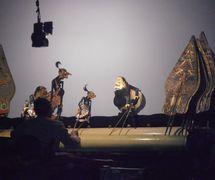 Semar y sus compañeros de payaso, el <em>punakawan</em>, en el estilo javanés de <em><em>wayang</em> kulit purwa</em>. Foto: Karen Smith