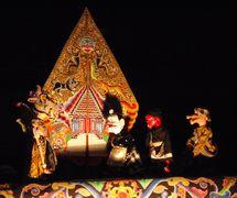 Semar con otros personajes, <em><em>wayang</em> golek <em>Sunda</em></em>, Java Occidental, Indonesia. Foto: Karen Smith