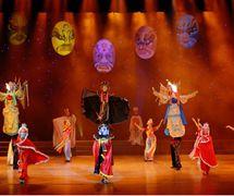 <em>Face Changing</em> (变脸, 2004) by Sichuansheng Damuou Juyuan (Beiqiandao, Shunqing District, Nanchong, Sichuan Province, People's Republic of China), direction: Tang Guoliang, design/construction: Shu Shilin, Zhao Qing, Xu Xueshu, Xian Guanghui, Hu Xingying, puppeteers: Li Dong, Chen Jianjun, Liu Yumei. Rod puppets, height: 180-200 cm
