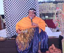 Slamet Gundono (1966-2014), Indonesian <em>dalang</em>/performance artist of Central Java, best known for his<em>wayang</em> suket(rice-straw puppetry) performances. Photo courtesy of UNIMA-Indonesia