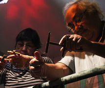 Antônio Carlos Sena and Reneidi Mezeck de Sena, two puppeteers of the Brazilian children's puppet theatre, Teatro Infantil de Marionetes (TIM) (2013). Photo: Carlos Mezeck de Sena