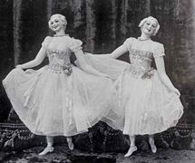 Two dancing ladies by James Holden, brother of Thomas Holden. Photo courtesy of The National Puppetry Archive