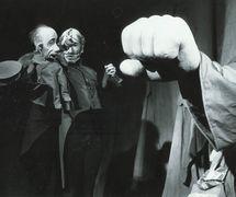 <em>Shinel</em> (<em>The Overcoat</em>, 2001), after Nikolai Gogol's novel, by Voronezhskiy teatr kukol «Shut» (Voronezh, Russia), direction: Valery Volkhovsky, design: Elena Lutsenko. Photo courtesy of Collection: Voronezhskiy teatr kukol «Shut»