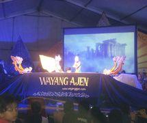 Wawan Gunawan, Indonesian puppet master (<em>dalang</em>) of <em>wayang</em> golek ajen, contemporary rod puppetry of <em>Sunda</em>, West Java. Photo: Karen Smith
